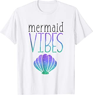 Mermaid Vibes Mermaid Birthday Party Shirt
