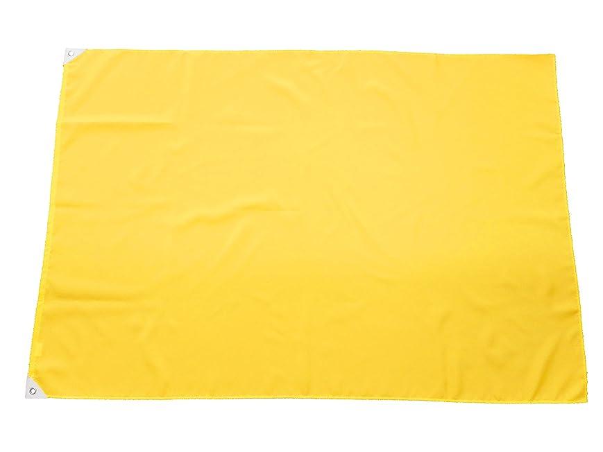 そう穿孔する定常TOMAC 紐付色旗 ポリエステル IHP-09-02 黄 90×130㎝