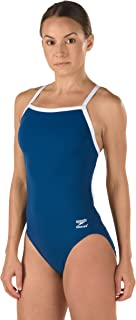 Speedo Girls' One Piece Swimsuit - Solid Flyback Training Suit