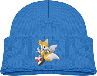 Soft Toddler Cap Knitted Hat for Baby with Lovely Sonic Hedgehog Tails Pattern