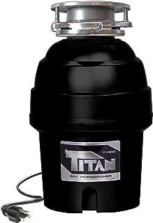 Titan US-TN-T-960 T-960 Waste Disposer, 3/4 HP - Deluxe, Black