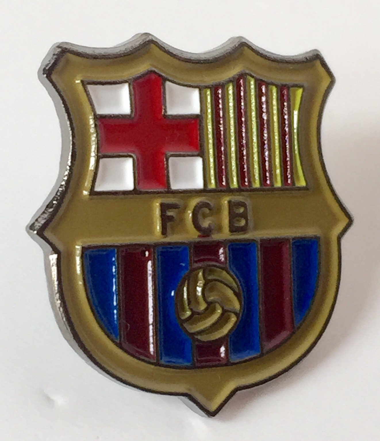 F.C, Barcelona España esmalte perno de la solapa insignia: Amazon.es: Hogar