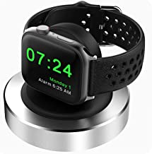 Compatible for Apple Watch Charger Stand(Weighted Metal Base), KINGRUNNING Designed for iWatch Stand Charging Dock Station...
