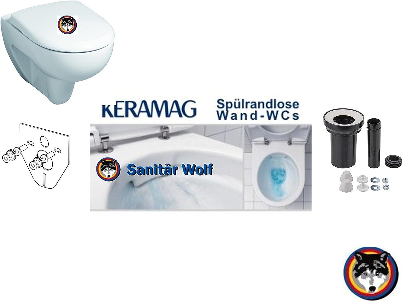 Keramag Renova Nr.1 Keratect Wand-WC Spülrandlos AUSTAUSCH - SET ALT gegen NEU