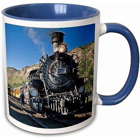 Train Coffee Mug Train Gift 11 Oz Black Kitchen Dining