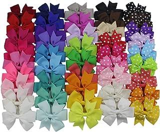 45PCS 3 Inch Toddlers Kids Grosgrain Ribbon Hair Bows for Baby Girl Infant Girls Child..