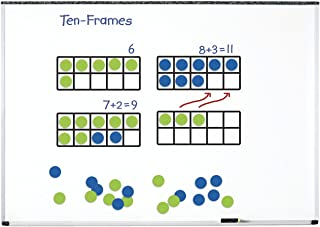 Learning Resources LER6644 Giant Magnetic Ten-Frame Set,44 Pieces,Multicolor