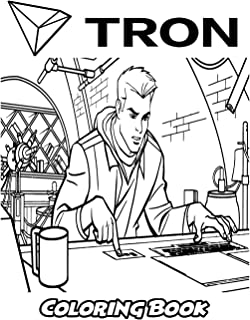 Tron Coloring Book: Coloring Book for Kids and Adults, Activity Book with Fun, Easy, and Relaxing Coloring Pages (Perfect for Children Ages 3-5, 6-8, 8-12+)