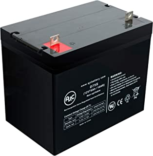 Merits S331 Pioneer 3 Deluxe 12V 75Ah Wheelchair Battery - This is an AJC Brand Replacement
