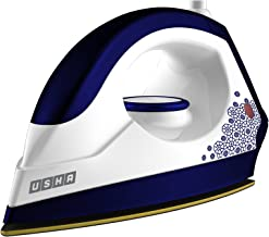 Usha 3302 Gold 1100 W Lightweight Dry Iron with Black American Heritage Soleplate (Galaxy Blue)
