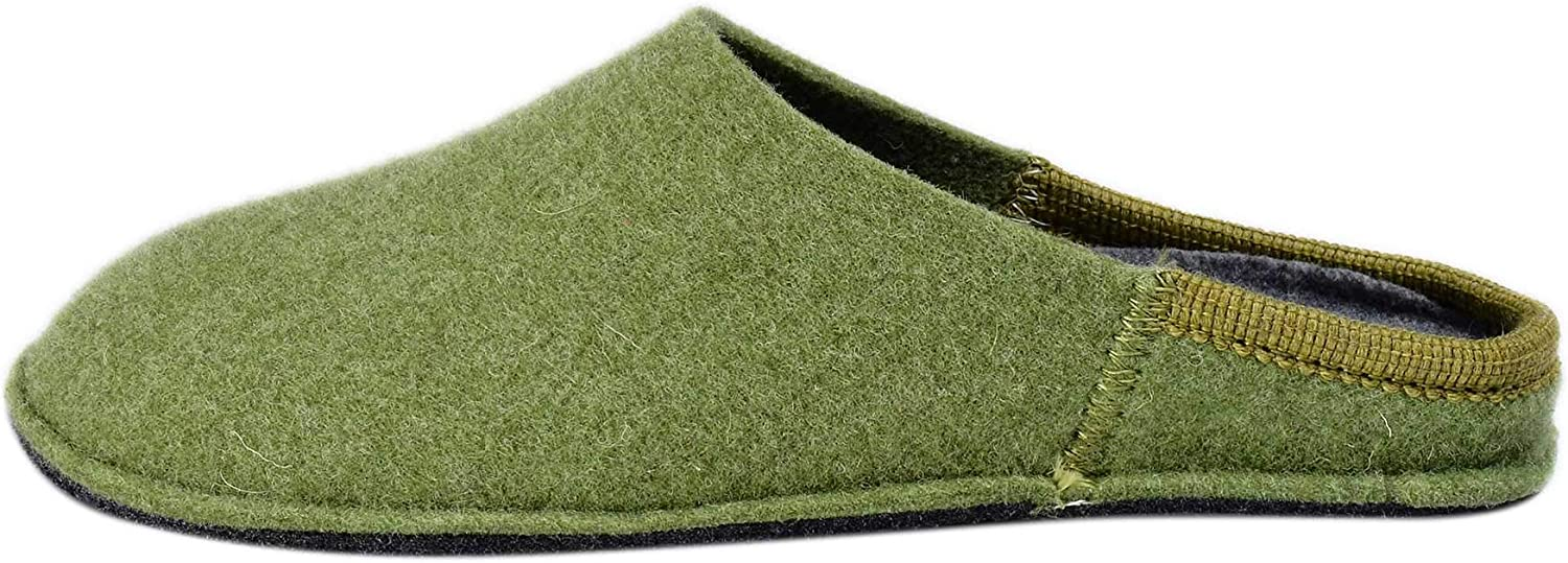 Le Clare - Nuvola Tinta Unita - Boiled Wool Slippers with Removable Insoles for Women