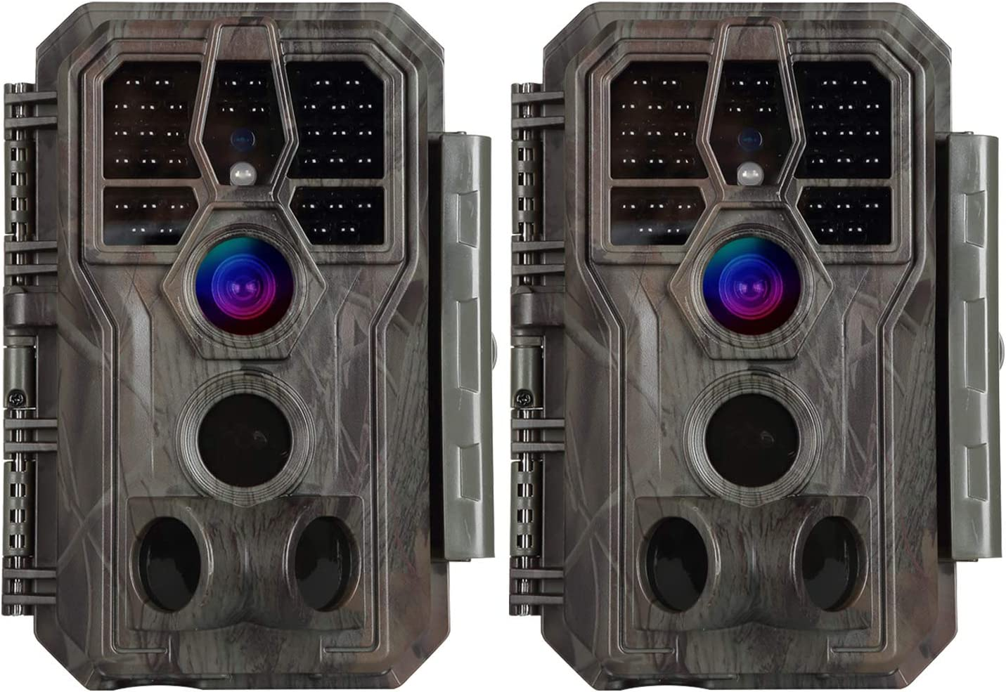 2-Pack Stealth Trail Game Cameras New item 24MP 100ft Photo N Video Selling and selling 1296P