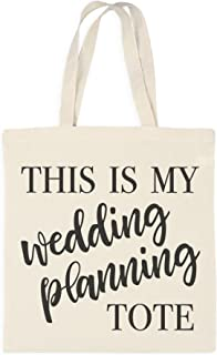 Ivy Lane Design AM1052 Cotton Tote Bag, Wedding Planning