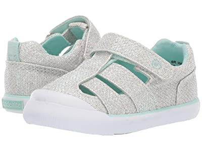 Stride Rite SR Hadley (Toddler) (Silver/Turquoise) Girls Shoes