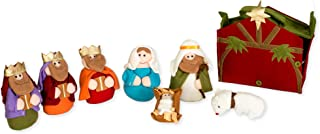 Felt Holy Family and Three Kings 9 x 5 inch Plush Christmas Figurine Nativity Set of 8