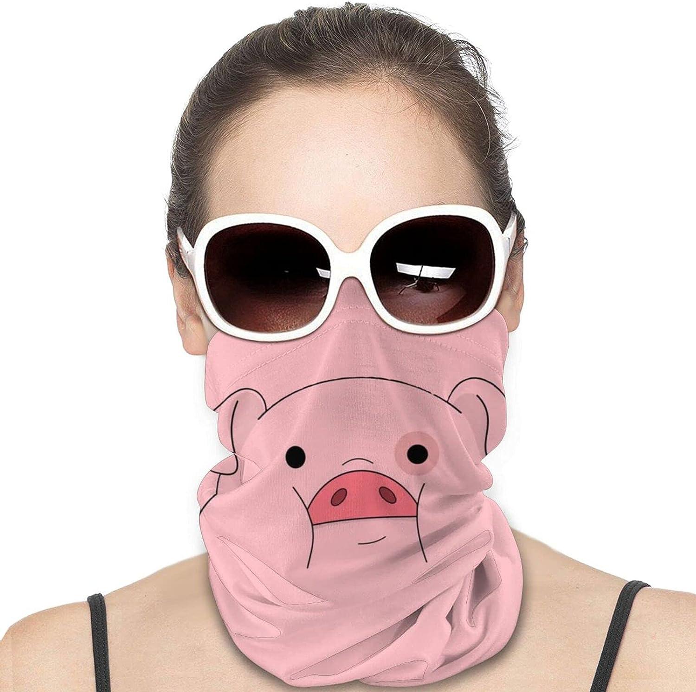 Waddles-Pink Pig Neck Gaiter Windproof Face Cover Balaclava Outdoors Magic Scarf Headband for Men Women Motorcycling Fishing Running Climbing