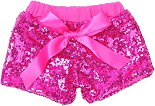 Baby Girls Sequin Shorts Toddlers Sparkle Short Pants Kids Birthday Shorts Glitter on Both Sides