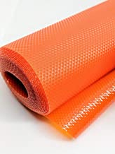 RUNER Multipurpose Textured Anti-Slip Eva Mat - for Fridge, Bathroom, Kitchen, Drawer, Shelf Liner - Orange