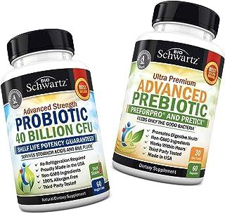 Probiotic 40 Billion CFU Guaranteed Potency Until Expiration + Prebiotics for Advanced Gut Health - Immune System & Digest...