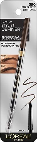 L'Oreal Paris Makeup Brow Stylist Definer Waterproof Eyebrow Pencil, Ultra-Fine Mechanical Pencil, Draws Tiny Brow Ha...