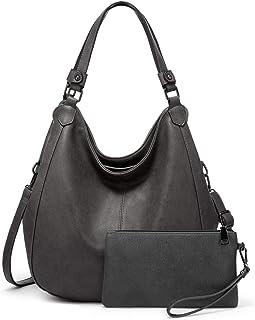 حقائب هوبو للنساء حقيبة كتف جلد صناعي حقيبة كتف كبيرة مع مقصورات