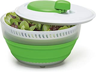 Progressive CSS-2 Green Collapsible Salad Spinner - 3 Quart Capacity