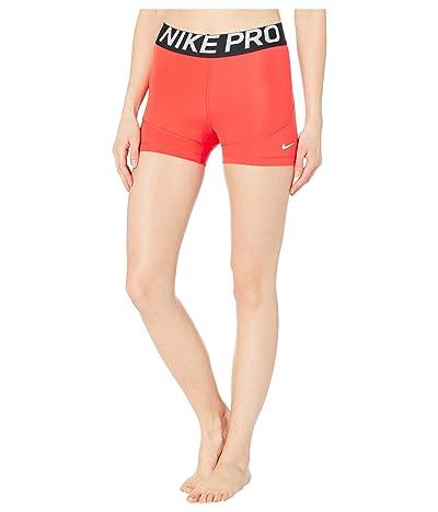 Nike Pro Shorts 3 (Track Red/Black/White) Women
