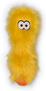 West Paw Rowdies Durable Plush Dog Toy with HardyTex and Zogoflex Chew Zones, Custer, Lemon