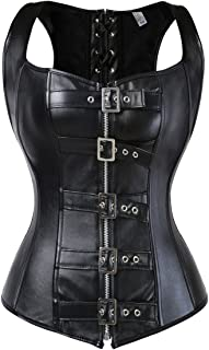 black leather corset for sale