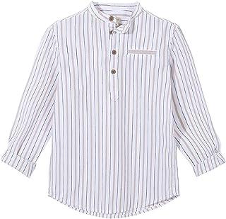 Gocco Dobby Rayas Camiseta de Manga Larga para Niños