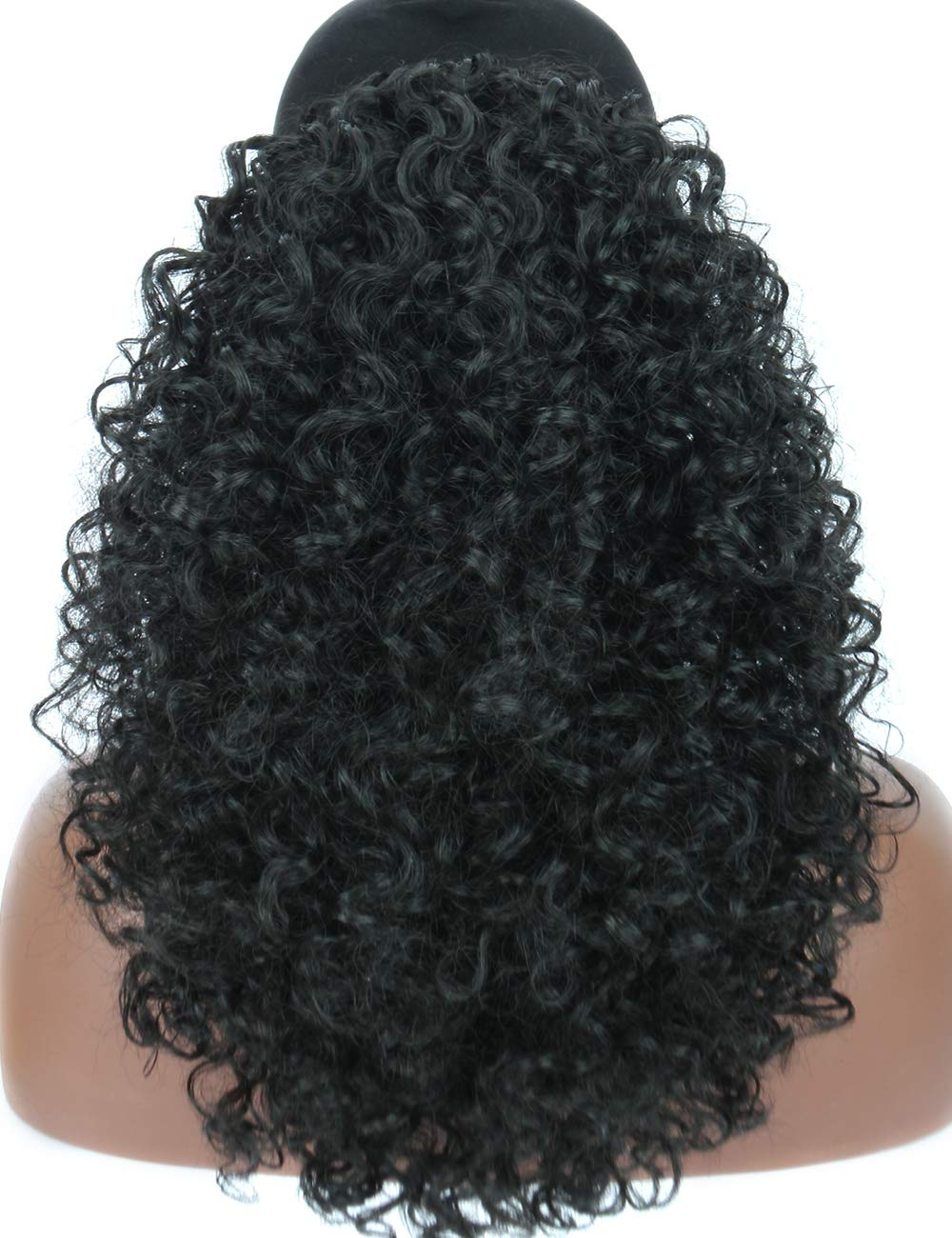 Kalyss Long Lightweight Black Synthetic Kinky Max 66% OFF Loose Curly Hair In a popularity E