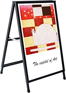 Henzer Metal Heavy Duty Foldable A-Frame Sidewalk Sign, 24x36