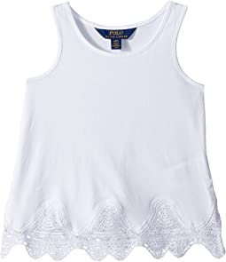Lace-Trim Jersey Tank Top (Toddler)