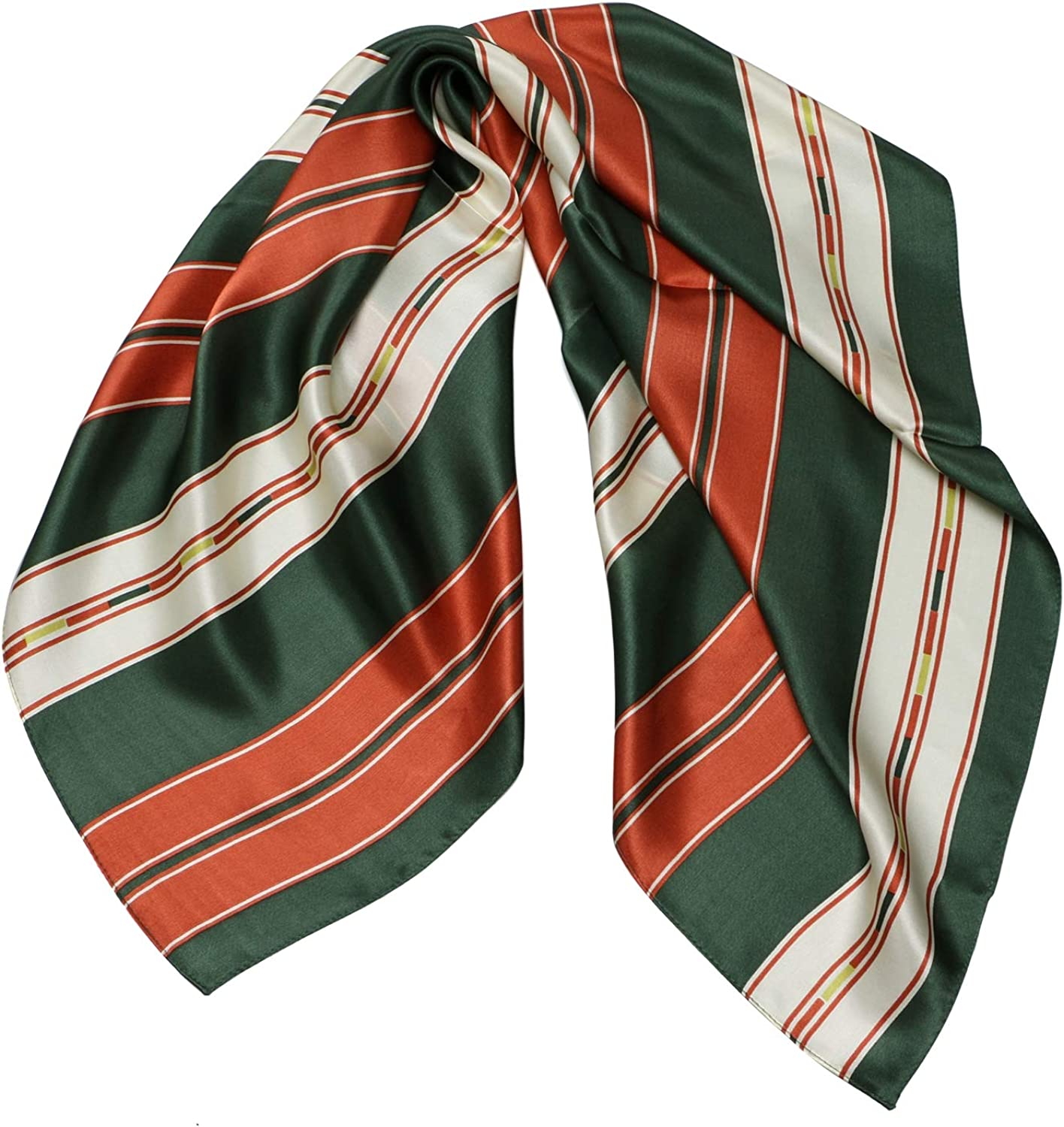100% Silk Scarf Square Neck Head Scarves for Women 26