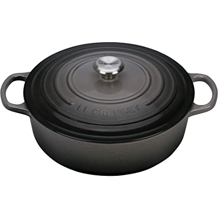 Le Creuset Enameled Cast Iron Signature Round Wide Dutch Oven, 6.75 qt., Oyster