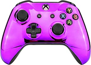 eXtremeRate Chrome Purple Edition Front Housing Shell Faceplate for Xbox One S & Xbox One X Controller (Model 1708)