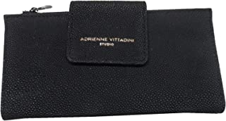Women's Fold Tab Snap Wallet Black