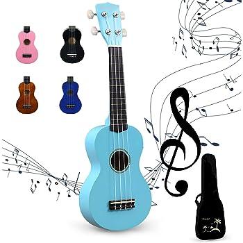 Amdini 21 Pulgadas Soprano Ukelele Tilo Mini Guitarra Acústica ...