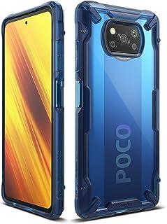 جراب فيوجن - اكس لموبايل بوكو X3 بتقنية NFC، جراب لاكس 3 برو، جراب خلفي نحيف وشفاف ومضاد للصدمات وباطار لشاومي بوكو اكس 3 ...