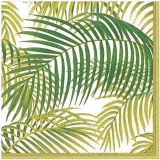 Caspari Pack of 20Dinner Napkins Under The Palms, Fabric, Multicoloured, 20x 20x 0.2cm