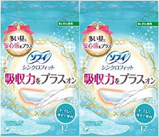 【まとめ買い】ソフィ シンクロフィット12ピース×2個パック(unicharm Sofy)