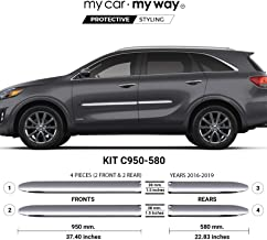 MY CAR MY WAY (Fits) KIA Sorento 2016-2019 Chrome Body Side Molding Cover Trim Door Protector