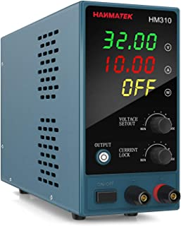 Adjustable DC Power Supply (0-30 V 0-10 A) with Output Enable/Disable Button HANMATEK HM310 Mini Variable Switching Digital Bench Power Supply