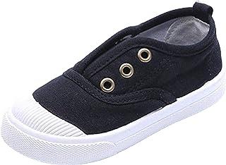 WUIWUIYU Fille Garçon Mixte Enfant Chaussures Bateau Toile Slip-on Classiques Mocassin
