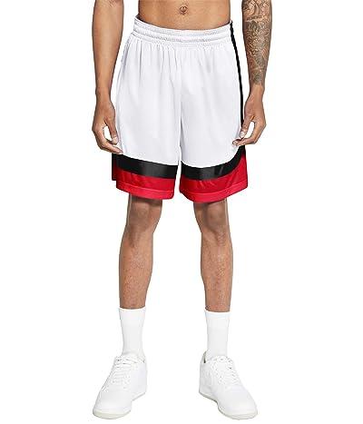 Nike Dry Asymmetric Curve Shorts (White/Black/University Red/White) Men