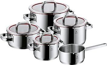 WMF Function 4-Pannenset, 5-Delig, Cromargan Gepolijst Roestvrij Staal, Ongecoat, Zilver