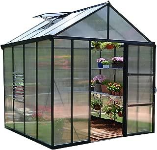 Palram HG5608 Glory Greenhouse, 8' x 8', Gray