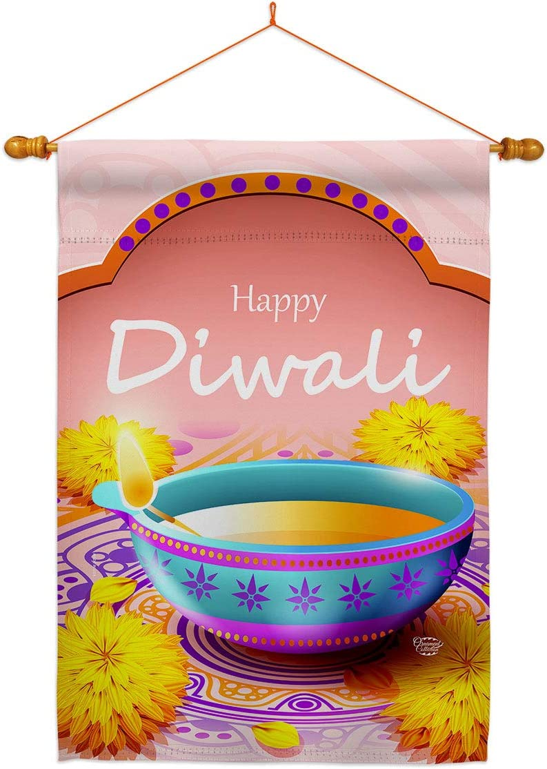 Ornament Collection Happy Diwali House Religious Set Dowel Flag Industry 40% OFF Cheap Sale No. 1
