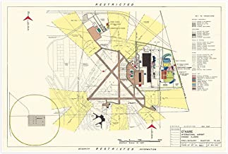 Antiguos Maps Preliminary Master Plan of O'Hare International Airport Circa 1951-24