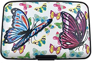 (Butterfly) - RFID Credit Card Holder for Women or Men, Theft Proof Credit Card Holder, Slim Design Fits in Pocket